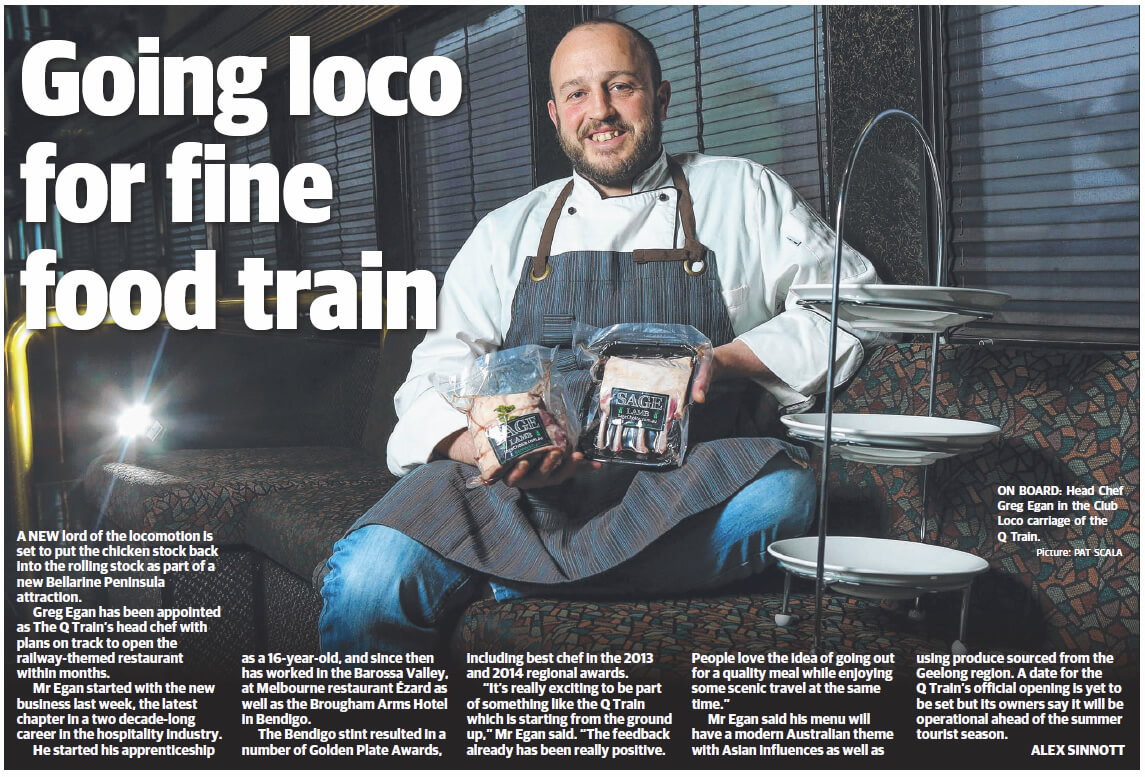 Going loco for fine food train